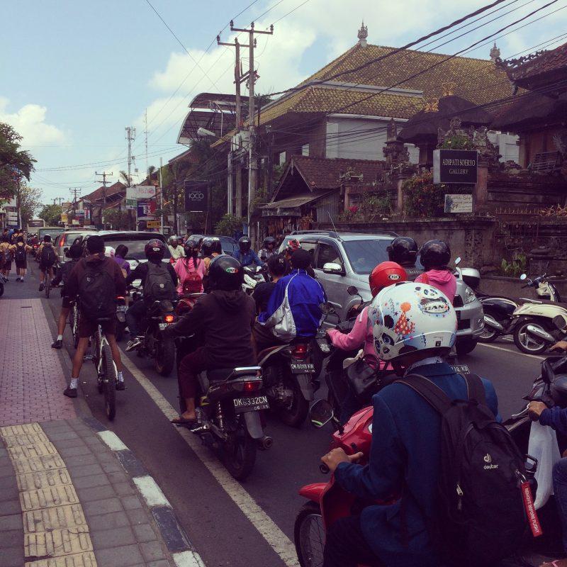 Le traffic à Ubud