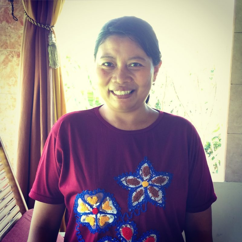 Kadek, femme de ménage à Penestanan, Bali