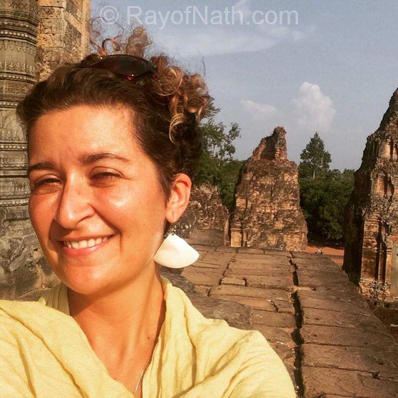 Trop de soleil dans les ruines d'Angkor