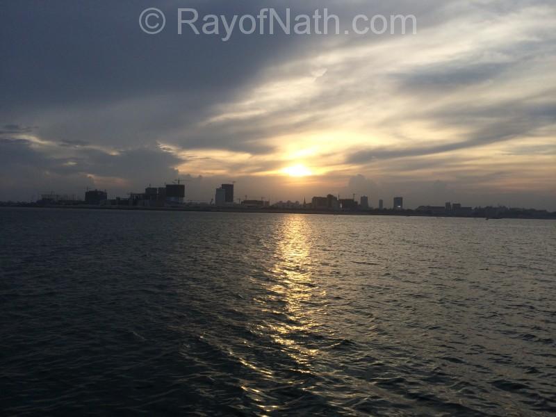 Coucher du soleil sur Phnom Penh