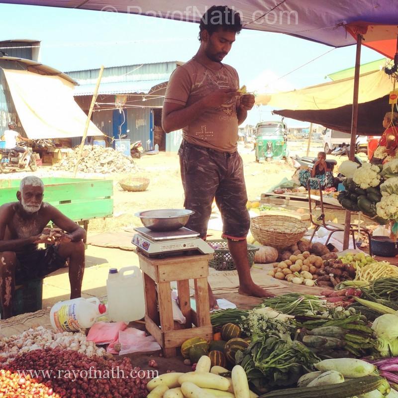 Marchands à Negombo