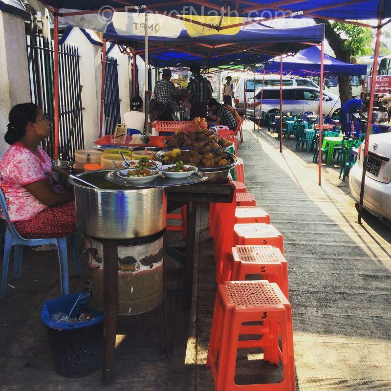 Kiosque de nourriture traditionnel
