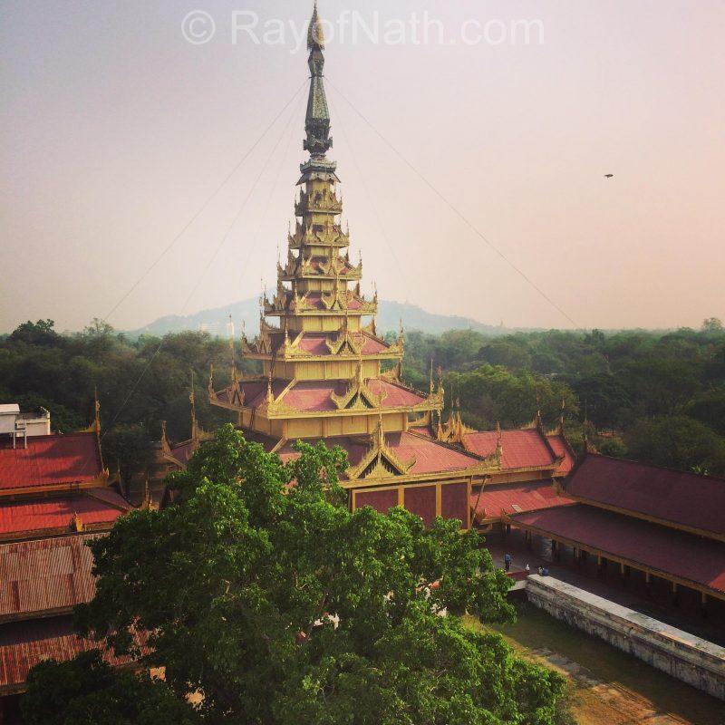 Un temple symbolique de la ville de Mandalay
