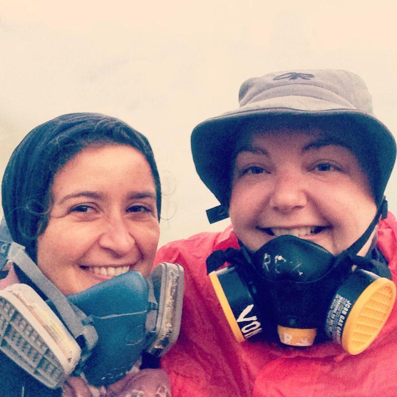 Kawah Ijen avec Marie-Lise après la remontée du cratère