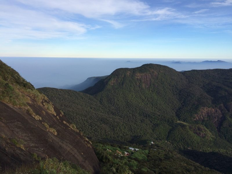 Du sommet d'Adam's Peak, Sri Lanka