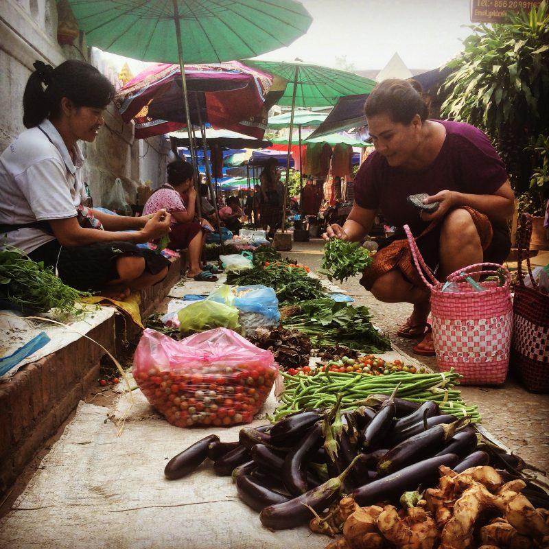 Marché du matin, Luang Prabang, Laos
