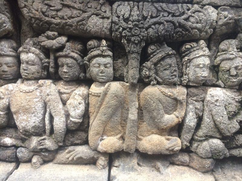 bas-reliefs de Borobudur