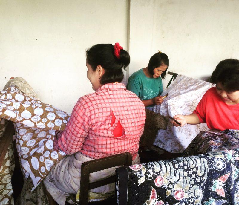 Confection de batik à Yogyakarta