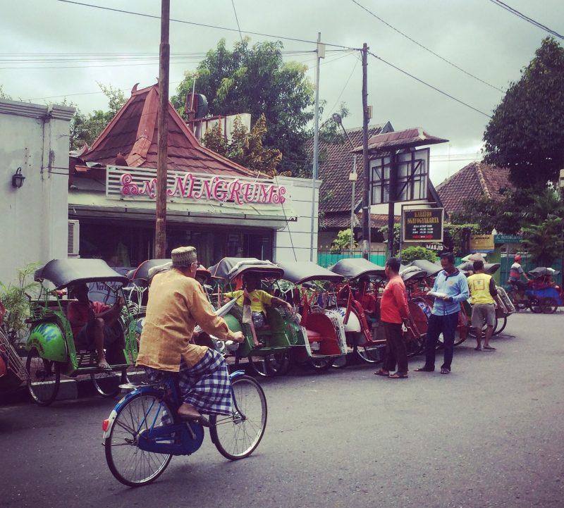 Becak - taxi vélos à Yogyakarta