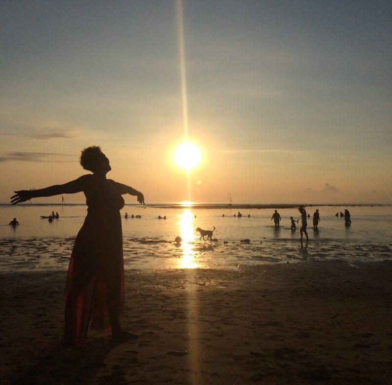 Premier lever du soleil de 2016 à Bali