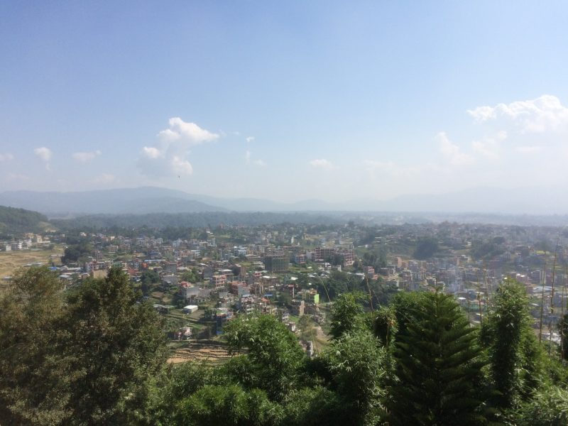 Aperçu de la vallée de Katmandou