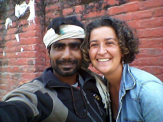 Avec Rinkuram à Boudhanath