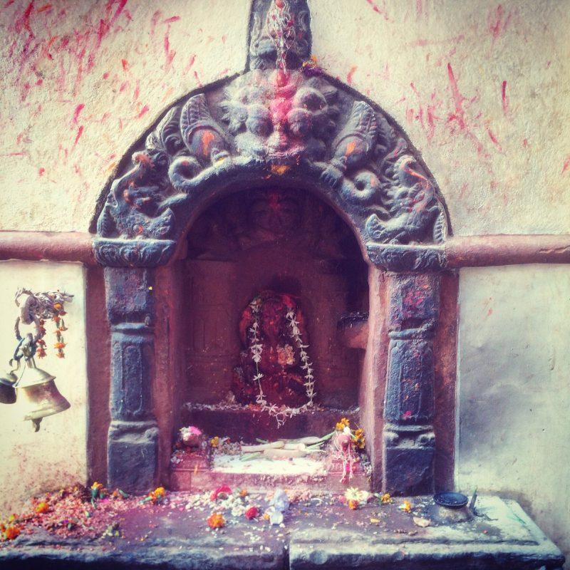 Portion d'un temple hindou dans la vallée de katmandou