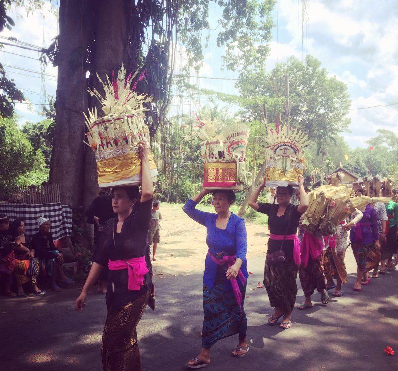 Procession, crémation, Bali