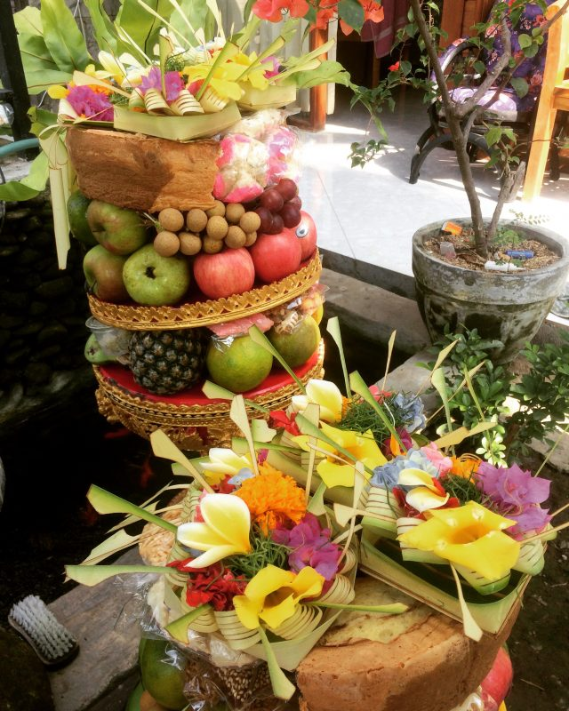 Offerings on Galungan day, Bali